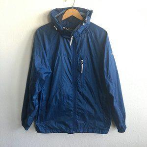 Columbia Men's Full Zip Blue Rain Jacket Hoodie